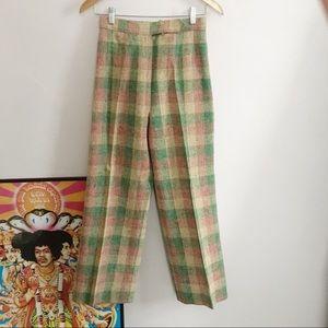 Vintage Don Sport Plaid Trousers